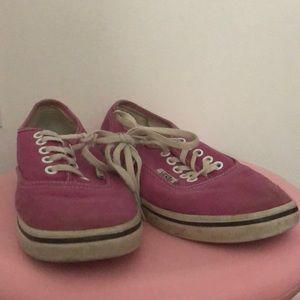Pink low skate vans size 3.5